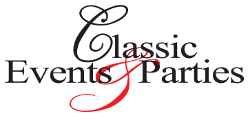 Classic Events and Parties Print Logo