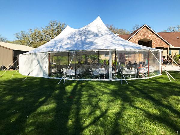Sail Cloth Rope and Pole Tent